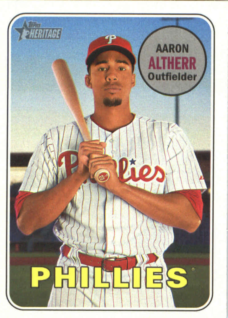 2018 Topps Heritage 329 Aaron Altherr Philadelphia Phillies Baseball Card