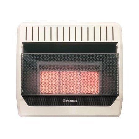 PROCOM HEATING INC Infrared Wall Heater, LP Gas, Vent-Free, 28,000-BTU ML3PHG Direct Vent Heating System