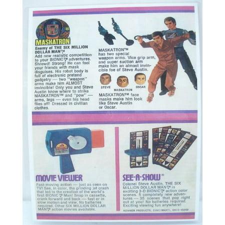 1973/76 Six Million Dollar Man Maskatron Product Sheet - Copy, Laminated (Dollar Bead)
