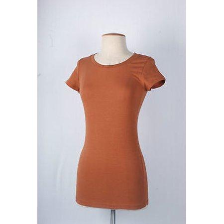 15d0e94ef896 TheLovely - Women Basic Plain Round Crew Neck TEE SHIRTS Stretch Short  Sleeve Top T-Shirts - Walmart.com