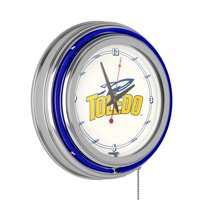 University of Toledo Neon Clock - 14 inch Diameter