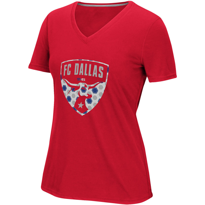 MLS-FC Dallas-Women's Raised Net Tee