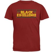 Black History Month Excellence Pan African Colors Mens T Shirt Cardinal Red SM