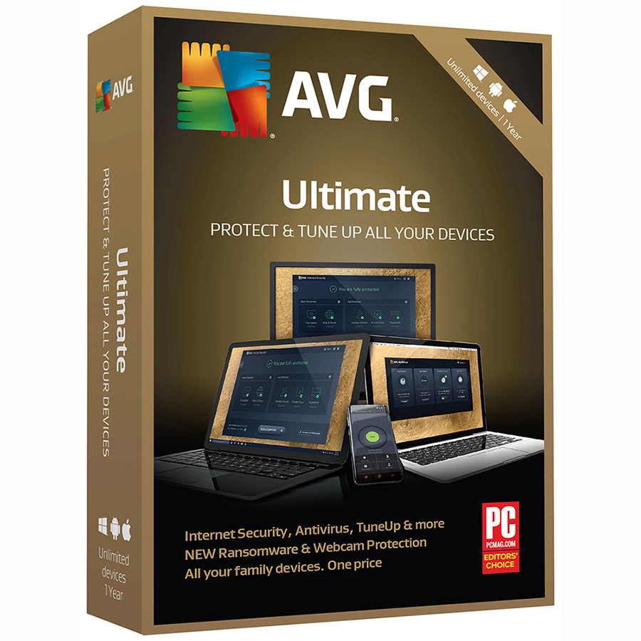 AVG Ultimate 2018, Unlimited, 1 Year