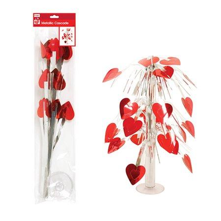 FLOMO Valentine's Day Metallic Heart Cascade Centerpiece