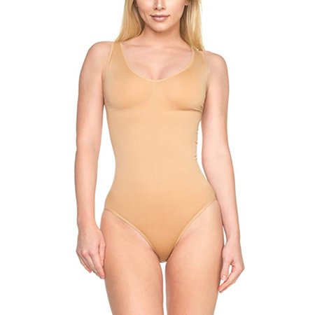 7cedf16bd LELINTA - LELINTA Women s Shapewear Seamless Slimming Tummy Control  Bodysuit Tank Briefs - Walmart.com