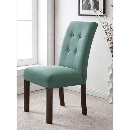 HomePop Modern 4-button Tufted Aqua Blue Upholstered Parson Dining ...