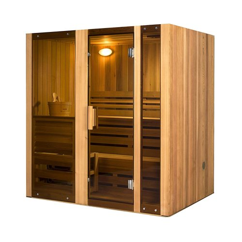 ALEKO STI4HEM 4 Person Hemlock Indoor Wet or Dry Steam Room Sauna with 6 KW ETL Certified... by ALEKO