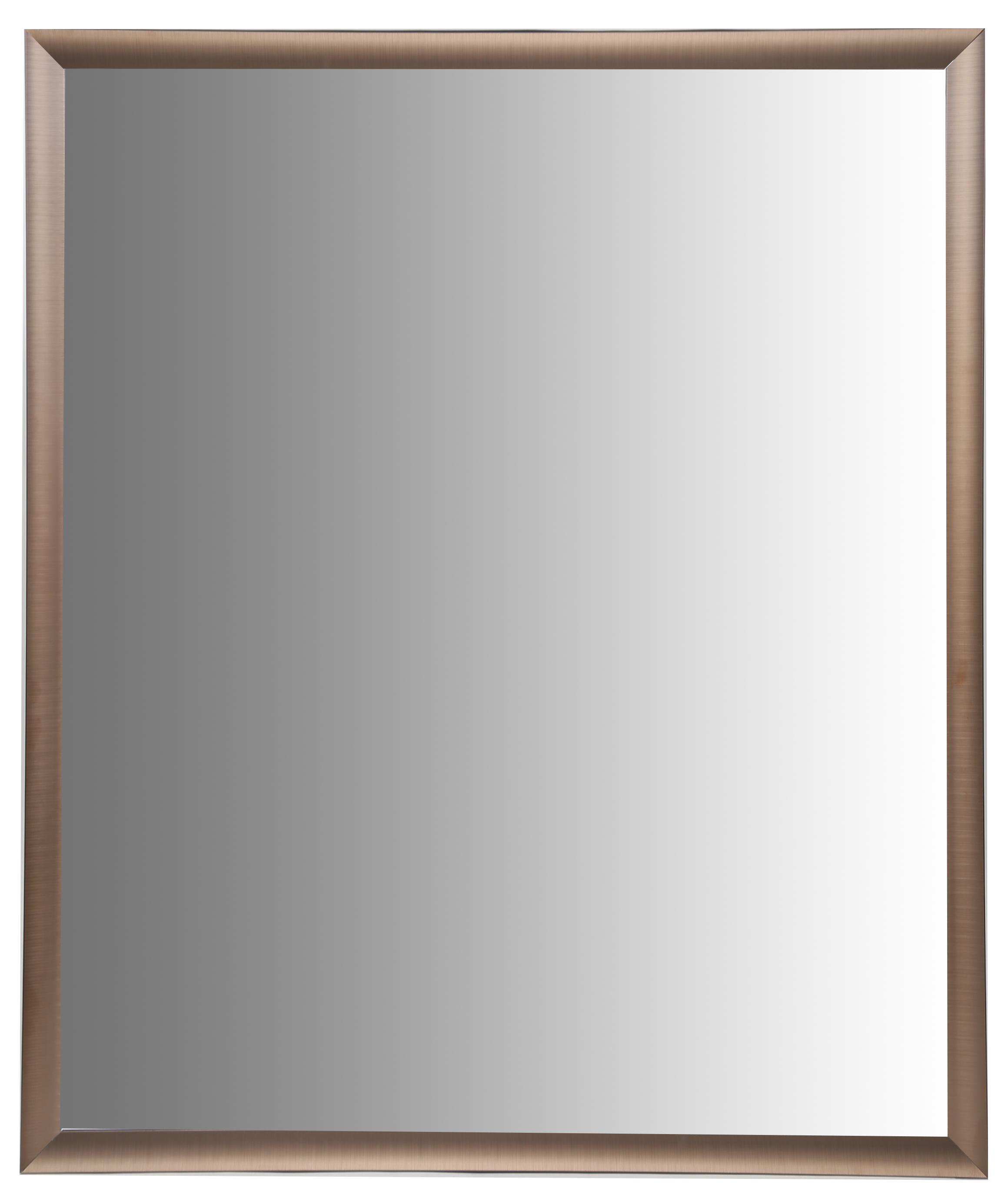 30x36 Brushed Bronze Aluminum Vanity Mirror, with 1 1 4 Wide Moulding by Pinnacle