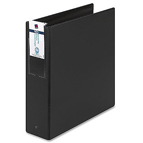 """Avery 3"""" Economy Round Ring Reference Binder with Label Holder, Black"""