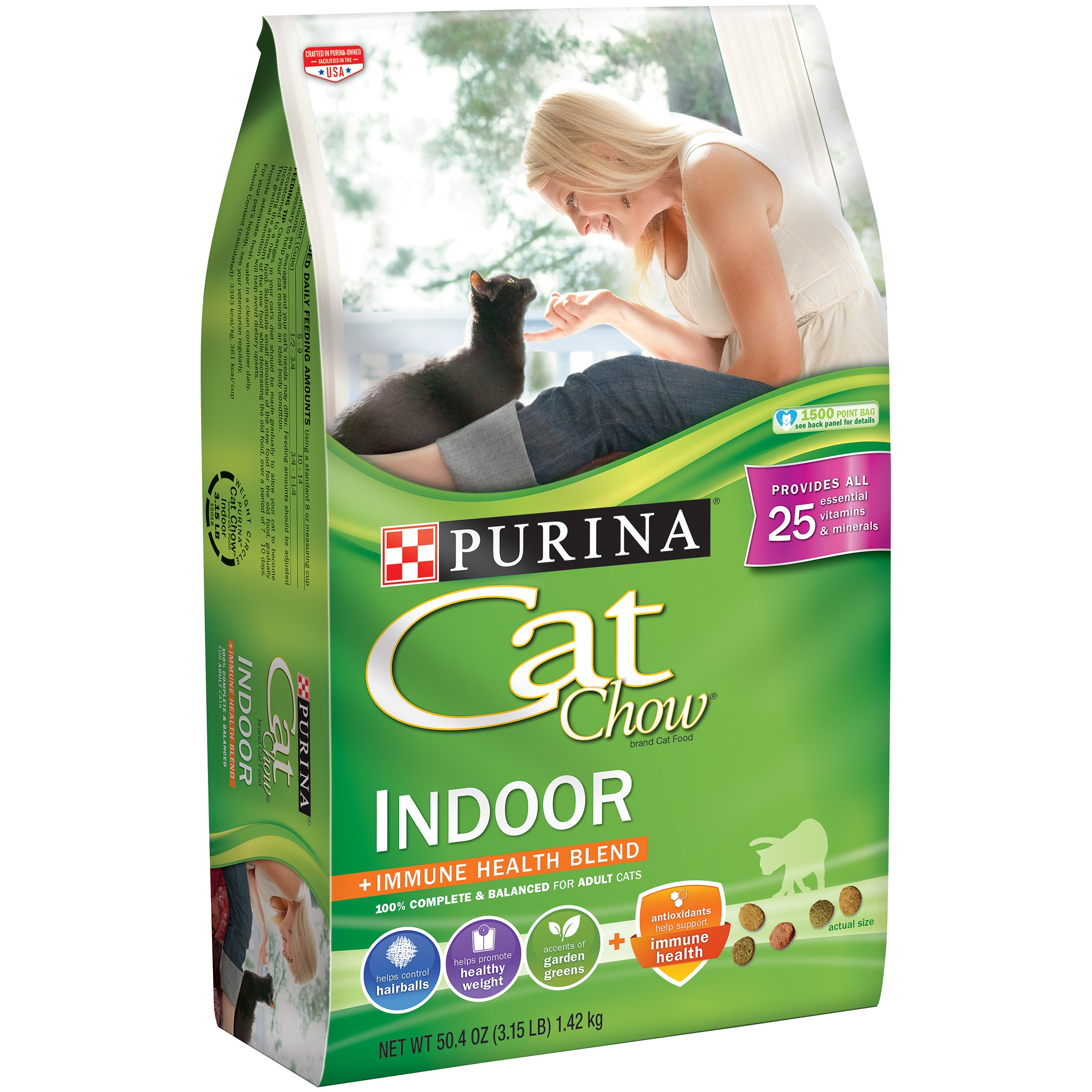 Purina Cat Chow Indoor Cat Food 3.15 lb. Bag