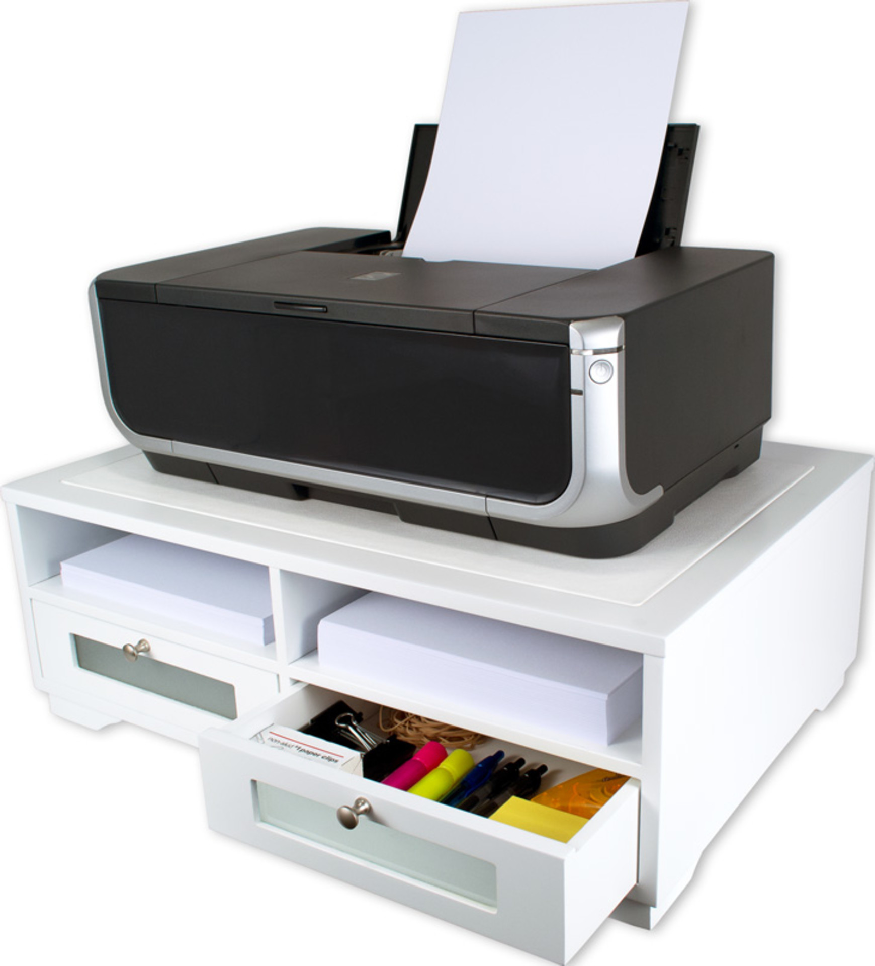 Victor W1130 Pure White Printer Stand