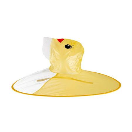 New Children Rain Coat PEVA Waterproof Cute Duck Hooded Raincoat Kids Rainwear Poncho for Boys Girls