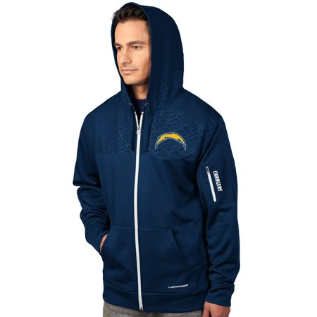 "San Diego Chargers Majestic ""Action"" Mens F Z Therma Base Hooded Sweatshirt by"