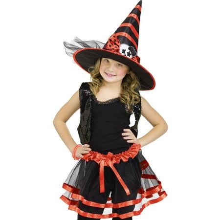 Purple TuTu,Hat Witch Princess Girls Fairytale Dress Halloween Costume O/S - Fairytale Witch