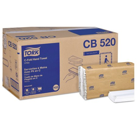 Tork CB520 Advanced C-Fold Towels, 1-Ply, 10 1/8