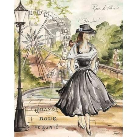 Springtime Paris Fashion II Poster Print by  Tre Sorelle Studios (11 x 14)