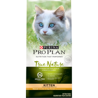 Purina Pro Plan Grain Free Natural High Protein Dry Kitten Food TRUE NATURE Chicken & Egg Recipe 3.2 lb. Bag