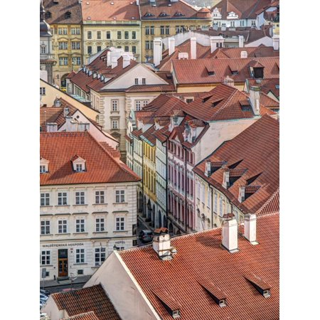 Czech Republic, Prague. Prague rooftops as seen from above. Print Wall Art By Julie - Above Rooftop Halloween