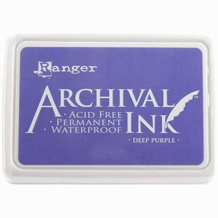 Ink Pad Deep Purple Archival Dye Permanent Waterproof Ranger
