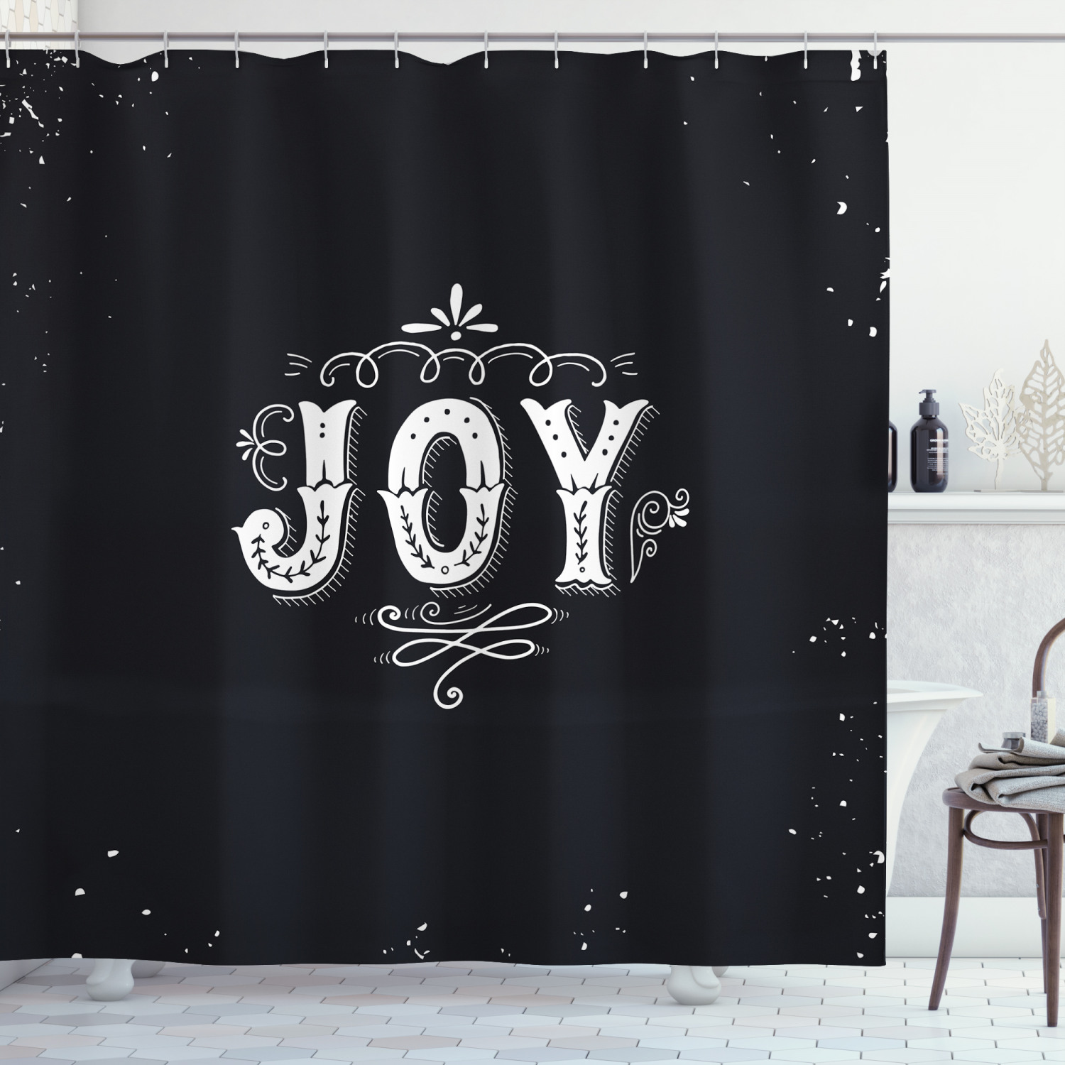 Details about  /New York Shower Curtain Monochrome American Print for Bathroom