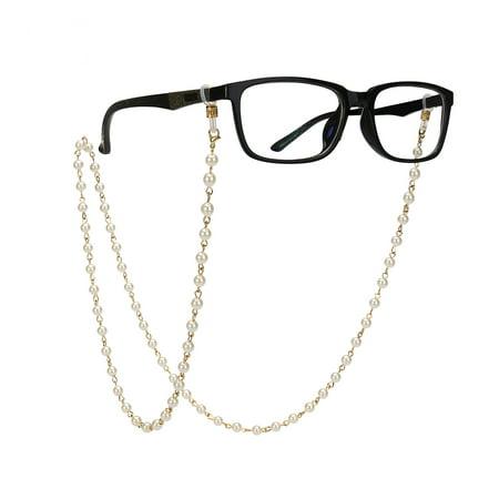 Imitation Pearls Bead Eyeglass Chain Glasses Strap Sunglasses Holder Lanyard (Beaded Eyeglass Chain Holder)