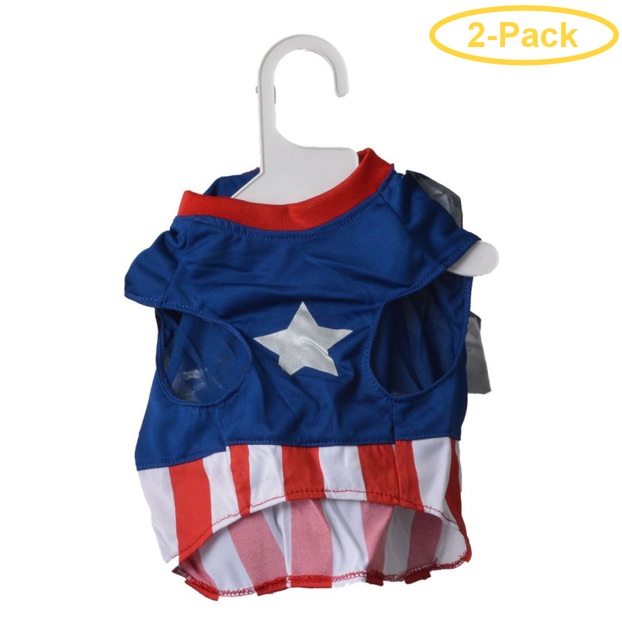 Lookin' Good Superdog Dog Costume Medium - (Fits 14-19 Neck to Tail) - Pack of 2