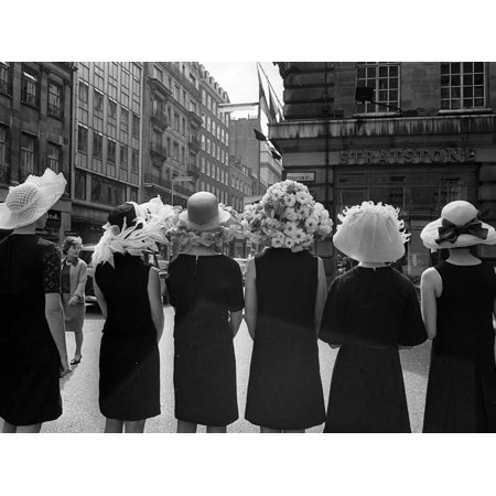 Mad as a Hatter: Mannequins Modelling Hats for the 1966 Royal Ascot Festival, May 1966 Print Wall Art](Mad Hatter For Sale)