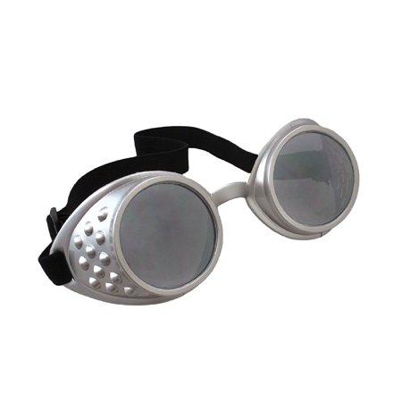 Black/Clear Glasses Aviator Goggles Adult Halloween Accessory (Aviator Goggles Kinder)