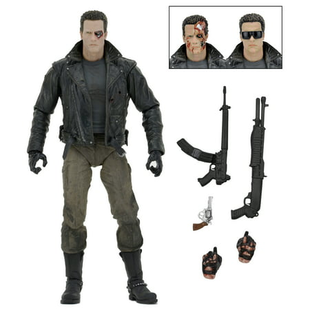 "Terminator - 7"" Action Figure – Ultimate Police Station Assault T-800  (Motorcycle Jacket)"