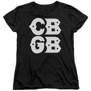Cbgb - Stacked Logo - Women's Short Sleeve Shirt - X-Large