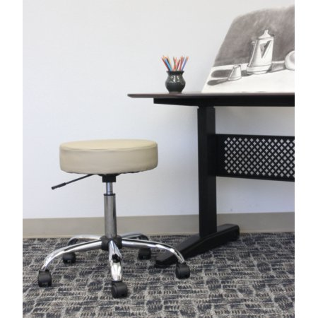 Boss Office Products Beige Adjustable Upholstered Medical Stool