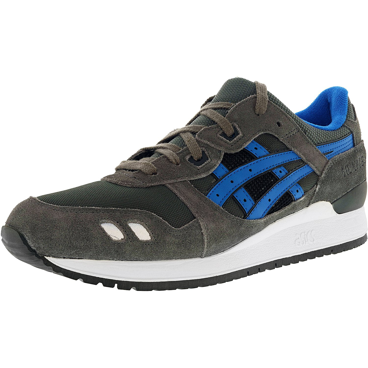 Asics Men's Gel Lyte Iii GreyMid Blue Ankle High Leather Running Shoe 11M