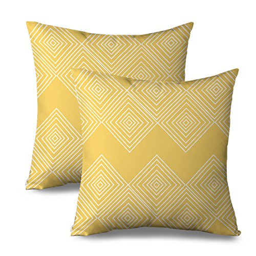 fabricmcc geometric throw pillow covers 18 x 18 yellow decorative throw pillows couch decor cushion covers