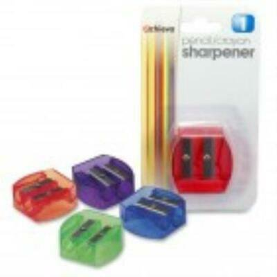 5PK OIC Dual Purpose Pencil & Crayon Sharpener