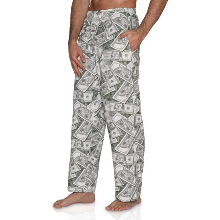 Fun Boxers Mens Fishing Fun Prints Pajama & Lounge Pants, I Like Big Bucks Money, Size: X-Large