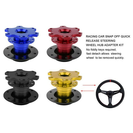 Universal Racing Car Snap Off Quick Release Steering Wheel Hub Adapter Kit