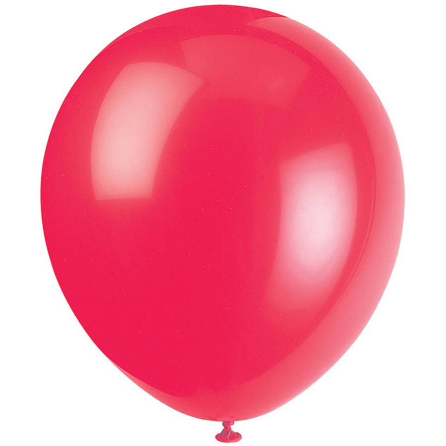 Latex Balloons, 12 in, Red, 10ct