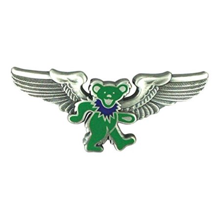 - Grateful Dead Rockwings Green Dancing Bear Pilot Pin for Sky-high Hippies & Deadheads