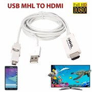 8.2ft 5 Pin & 11 Pin Micro USB  to  1080P HD TV Cable Adapter for Samsun g Galaxy S3 S4 S5 Note 2 3 Tab 3 Galaxy Mega   Android Phone Tablet