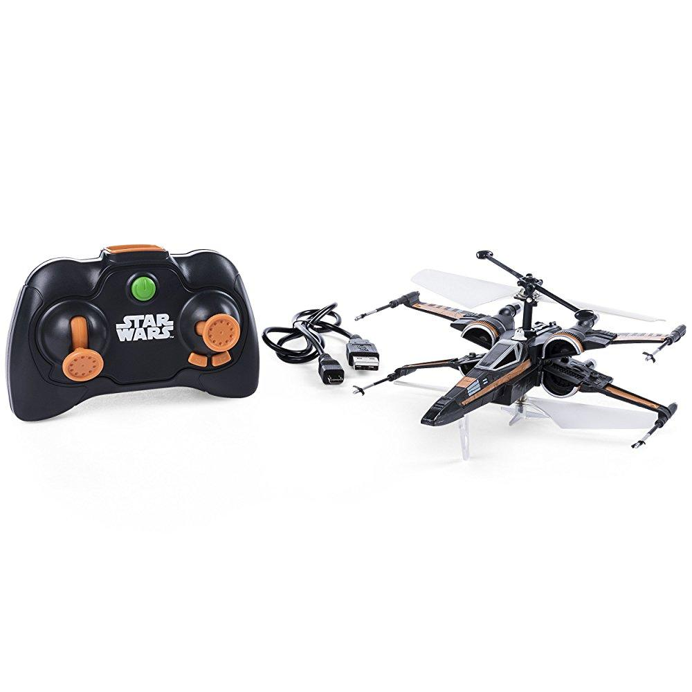 Air Hogs Poes Boosted X-wing Fighter, Single Rotor Star Wars, Toy Jet by