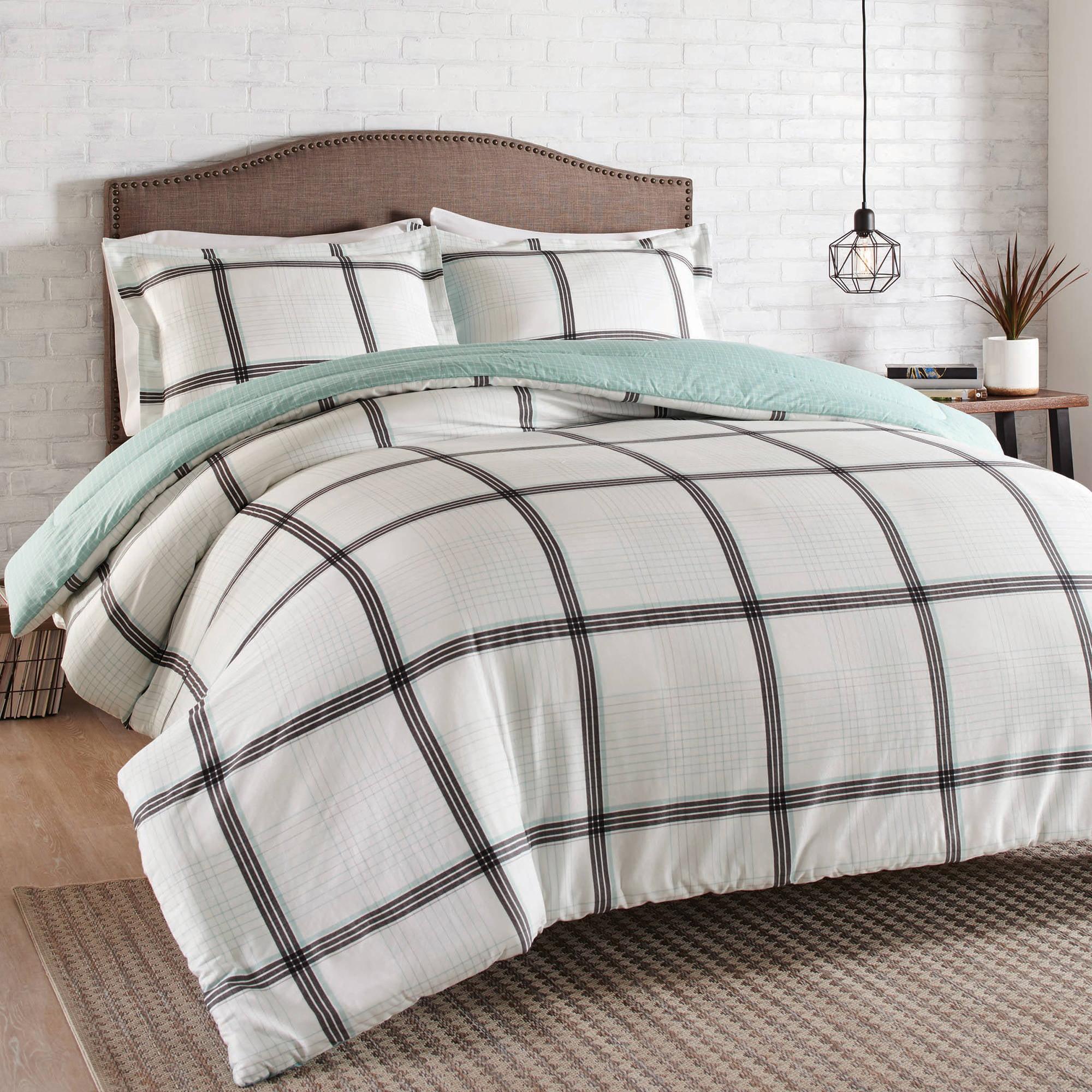 Better Homes and Gardens 3-Piece Modern Plaid Comforter Set