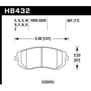 Hawk 2006-2006 Saab 9-2X 2.5i HPS 5.0 Front Brake Pads