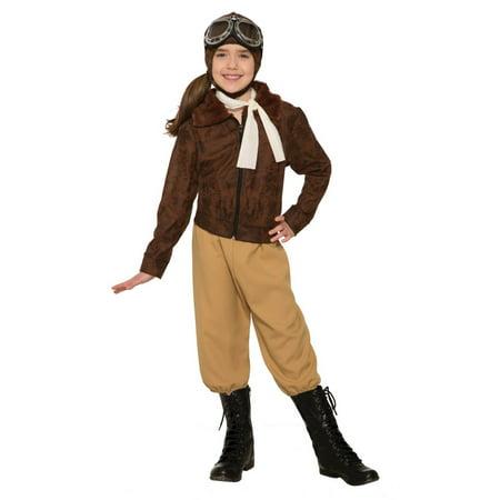 Child Amelia Earheart Halloween Costume](80s Female Halloween Costume)