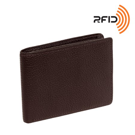 Ross Michaels Mens Leather Flip Up Passcase Wallet W  Rfid Insert