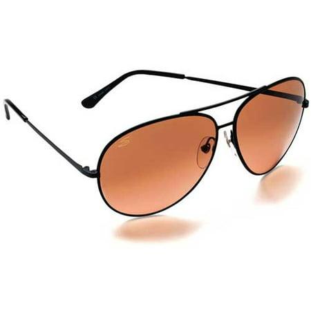 Serengeti Classic Sunglasses - 5222 Aviator Sunglasses Large Aviator Matte Black Frames Photochromic