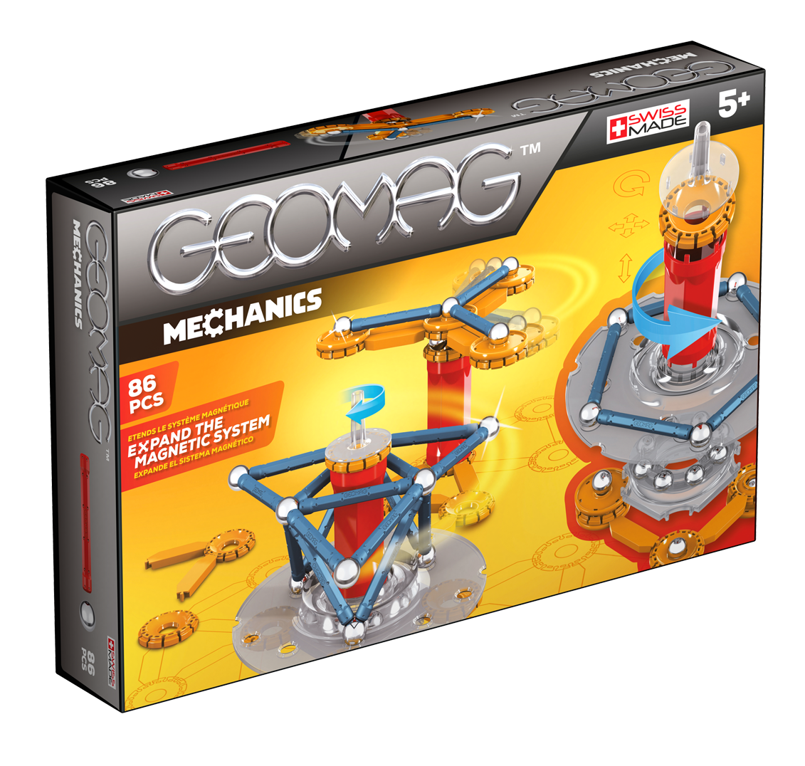 GEOMAG Mechanics 86 Piece Construction Set