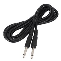 6.3mm Male to Male Mono Plug Electric Guitar Cable Patch Cord Black 3 Meters