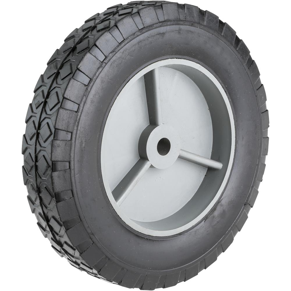 "Grizzly G7083 8"" x 7/16"" Axle Rubber Wheel"