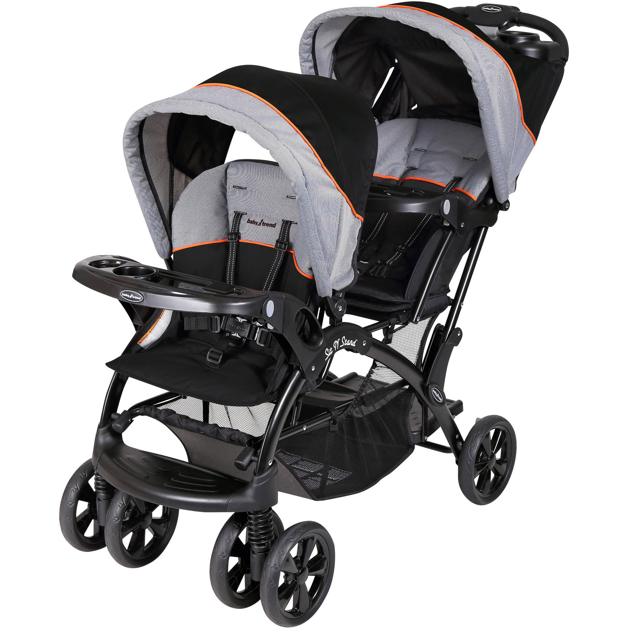 Baby Trend Sit 'N Stand Double Stroller, Millennium Orange